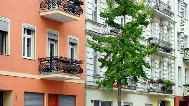 Hausfassaden in Berlin-Moabit,